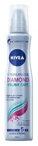 Nivea Hair Care Styling Pianka do włosów Diamond Volume Care ultra mocna 150ml
